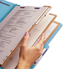 SMD19094 - Smead® Colored Pressboard 8-Section Top Tab Classification Folders with SafeSHIELD™ Coated Fastener
