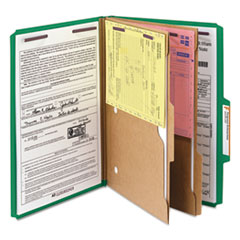 SMD19083 - Smead® 6-Section Pressboard Top Tab Pocket-Style Classification Folders with SafeSHIELD™ Coated Fastener