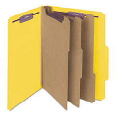 SMD14098 - Smead® Colored Pressboard 8-Section Top Tab Classification Folders with SafeSHIELD™ Coated Fastener