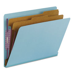 SMD26781 - Smead® Colored Pressboard End Tab Classification Folders w/SafeSHIELD™ Coated Fasteners