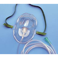 MON21223900 - CarefusionAirLife® Under the Chin Elastic Head Strap Oxygen Mask