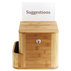 SAF4237NA - Safco® Bamboo Suggestion Boxes