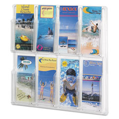 SAF5608CL - Safco® Reveal™ Clear Literature Displays