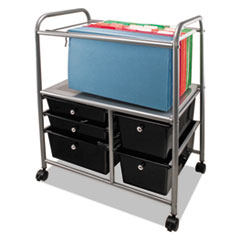 AVT34100 - Advantus® Letter/Legal File Cart with Five Storage Drawers