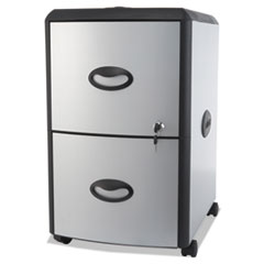 STX61352U01C - Storex Mobile Filing Cabinet with Metal Siding