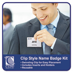 CLI95543 - C-Line Products - Clip Style Badge Holders, Sealed w/Inserts, 4 x 3