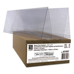 CLI87507 - C-Line ProductsLarge Rigid Heavyweight Plastic Name Tent Holders, 4 1/4 x 11, Clear