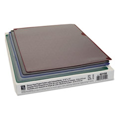 CLI62150 - C-Line ProductsDeluxe Vinyl Project Folders w/Colored Backs