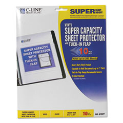 CLI61027 - C-Line® Super Capacity Sheet Protector with Tuck-In Flap