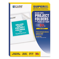 CLI62138 - C-Line ProductsDeluxe Non-Glare Vinyl Project Folders