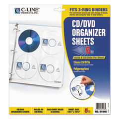 CLI61948 - C-Line® CD/DVD Ring Binder Kit Refill Pages