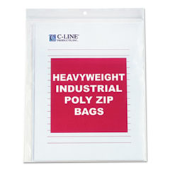 CLI47911 - C-Line ProductsHeavyweight Industrial Poly Zip Bags, 8 1/2 x 11