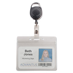 AVT91130 - Advantus® Resealable ID Badge Holders