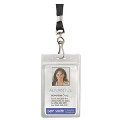 AVT91131 - Advantus® Resealable ID Badge Holders