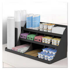 EMSCOMORG02BLK - Mind Reader Extra Large Coffee Condiment and Accessory Organizer