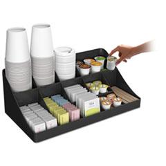 EMSCOMORGBLK - Mind Reader 11-Compartment Coffee Condiment Organizer