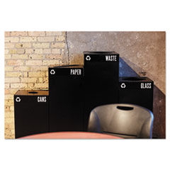 SAF2981BL - Safco® Public Square® Recycling Receptacles