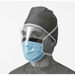 MEDNON27420 - MedlineSurgical Face Mask, Anti-Fog, Shield, Ties (case of 100)