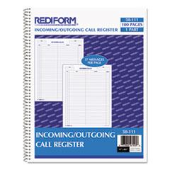 RED50111 - Rediform® Wirebound Call Register