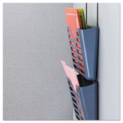 UNV08163 - Universal® Recycled Plastic Cubicle Triple File Pocket