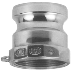 DXV238-100-A-SS - Dixon Valve - Andrews/Boss-Lock Type A Cam and Groove Adapters