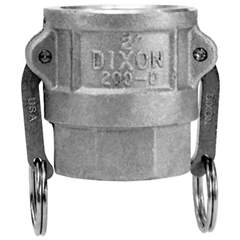 DXV238-200-D-AL - Dixon Valve - Andrews Type D Cam and Groove Couplers