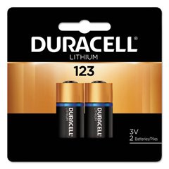 DUR243-DL123AB2PK - Duracell - Duracell Batteries, Lithium Cell, 3 V, 123, 2 Per Card
