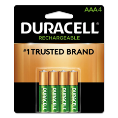 DUR243-DX1500B4N - DuracellPre-Charged Rechargeable Batteries, Nimh, 1.5 V, Aa