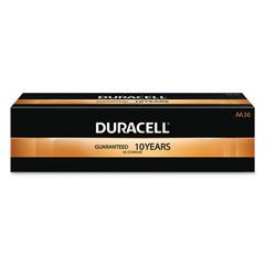 DUR243-MN15P36 - Duracell - Coppertop Batteries, Duralock Power Preserve Alkaline, 1.5 V, Aa, 36 Per Pack
