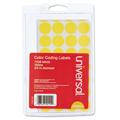 UNV40114 - Universal® Self-Adhesive Permanent Color-Coding Labels