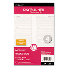 DRN061285Y - Weekly Planning Pages Refill, 8 1/2 x 5 1/2, 2020