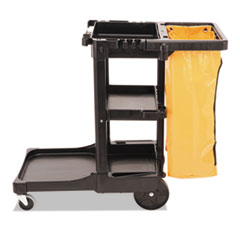 RCP617388BK - Rubbermaid® Commercial Multi-Shelf Cleaning Cart