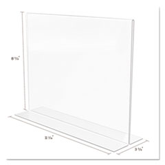 DEF69301 - deflect-o® Superior Image® Stand-Up Double-Sided Sign Holder