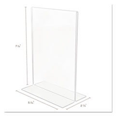 DEF69101 - deflect-o® Superior Image® Stand-Up Double-Sided Sign Holder