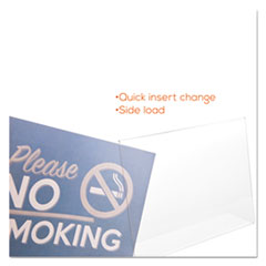 DEF66701 - deflect-o® Superior Image® Slanted Desktop Sign Holder