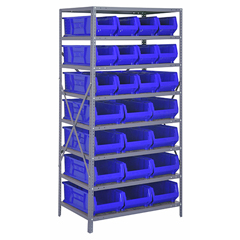 QNT2475-950952BL - Quantum Storage Systems - 24 Hulk Container Steel Shelving Systems