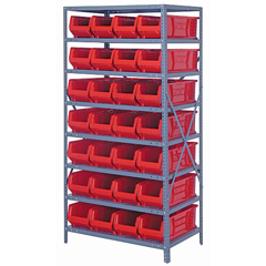 QNT2475-950RD - Quantum Storage Systems - 24 Hulk Container Steel Shelving Systems