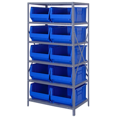 QNT2475-954BL - Quantum Storage Systems - 24 Hulk Container Steel Shelving Systems