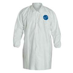 DUP251-TY211S-L - DuPontTyvek Lab Coats No Pockets Knee Length, Large, Dupont Tyvek Lab Coat