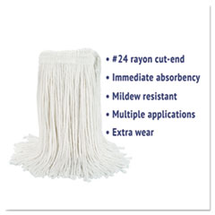 BWK2024REA - Boardwalk® Cut-End Wet Mop Heads