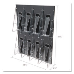 DEF56201 - deflect-o® Stand Tall® Multi-Pocket Wall-Mount Literature Systems