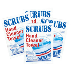 ITW253-42201 - ITW DymonScrubs Hand Cleaner Towels, One Per Pack