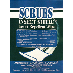 ITW253-91401 - ITW DymonInsect Shield Insect Repellent Towels, 4 Lb Single Towel Packets, 100 Per Box