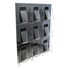 DEF56801 - deflect-o® Stand Tall® Multi-Pocket Wall-Mount Literature Systems