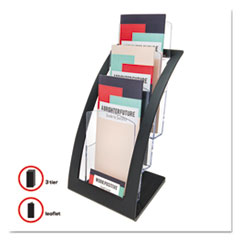 DEF693604 - deflect-o® Three-Tier Literature Holder