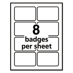 AVE5895 - Avery® Blue Border Removable Adhesive Name Badges