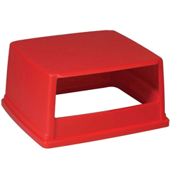 RCP256VRED - Glutton® Hood-Top Receptacle Lid