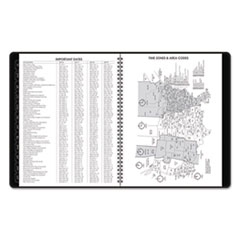 AAG7095705 - Weekly Appointment Book, Academic, 10 7/8 x 8 1/4, Black, 2019-2020
