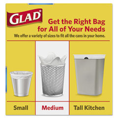 CLO78815BX - Glad® OdorShield® Medium Quick-Tie® Trash Bags