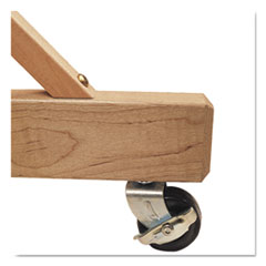 QRT9500 - Quartet® Casters for Double-Sided Dry Erase Easel with Oak Stand